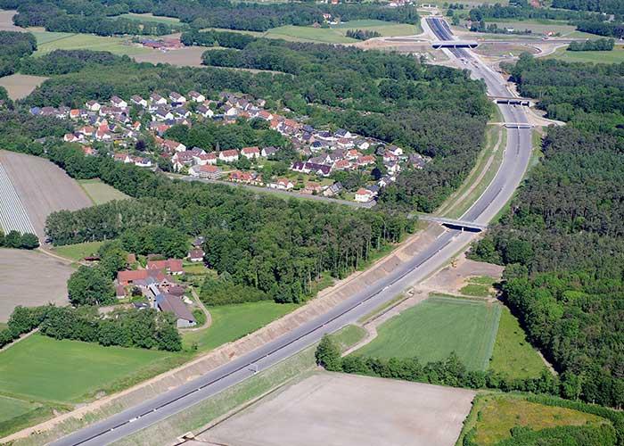 Großprojekt Straßenbau